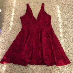NWT Kimchi Blue Urban Outfitters Lace Dress - Wine